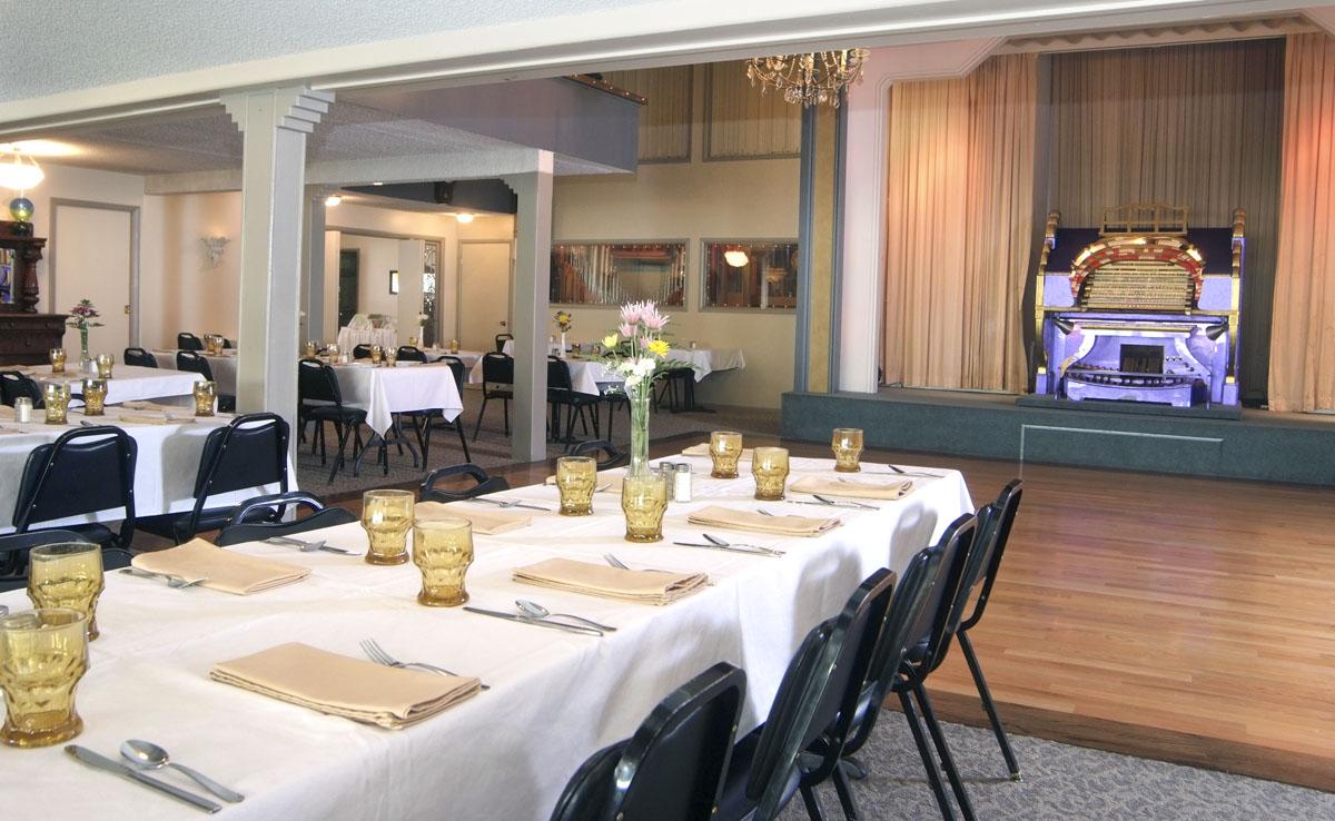 Edison Street Dining Hall, Dance Floor and Organ